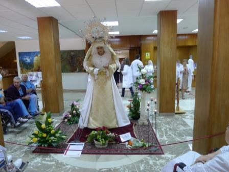 Cofradia Columna – Visita Virgen Hospital San Juan De Dios Zaragoza