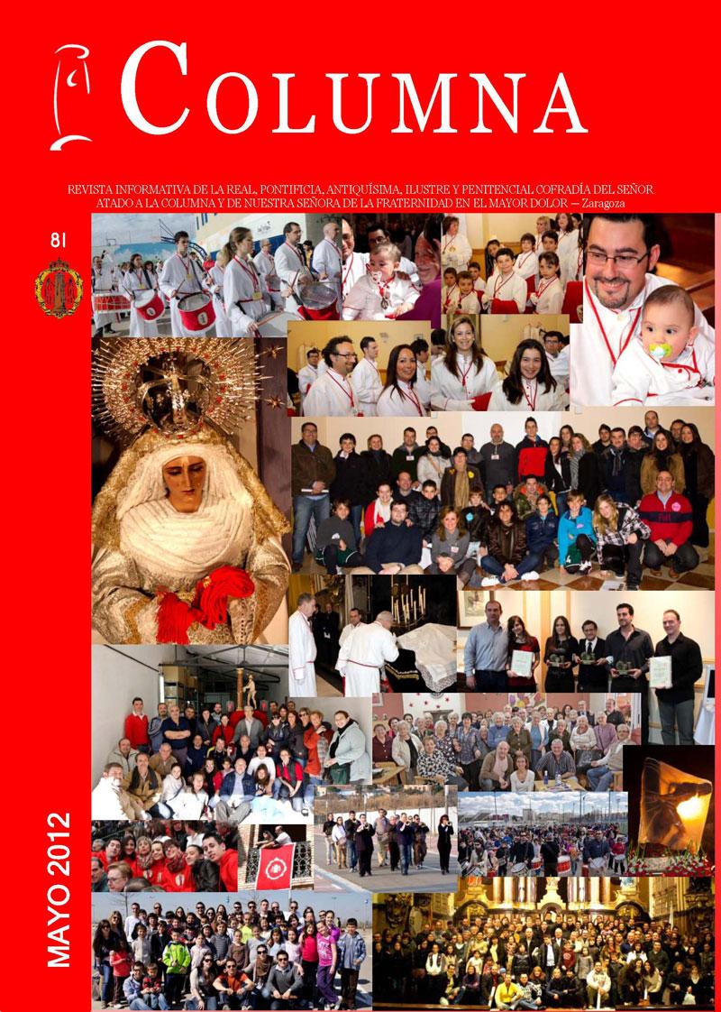 Cofradia Columna Zaragoza – Portada Revista 81 Mayo 2012
