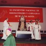Altar de la Eucaristía de clausura con la imagen de Nuestra Señora de la Fraternidad en el Mayor Dolor, procesionada por esta Cofradía.