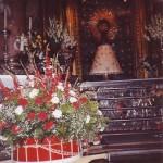 La canastilla de flores ante la Virgen del Pilar