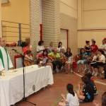 Momento de oración y Eucaristía.