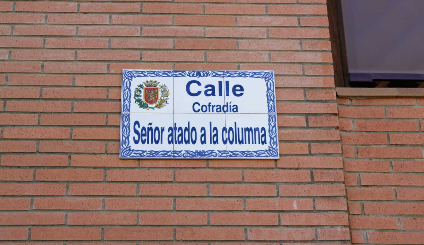 Cofradia Columna Zaragoza – Placa Callle Cofradia 3