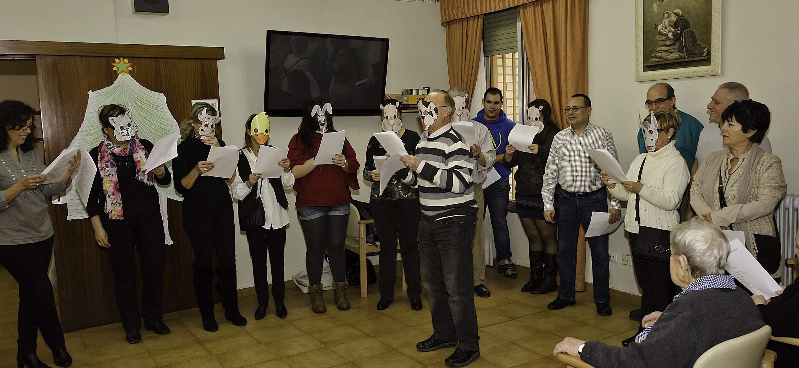 Cofradia Columna Zaragoza – Visita De Navidad En La Residencia