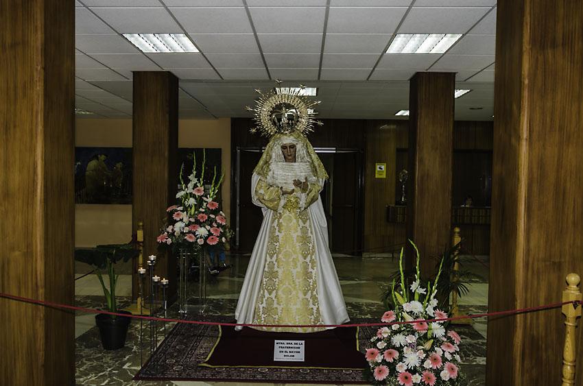 Cofradia Columna Zaragoza – Visita Virgen HSJD 2013 0