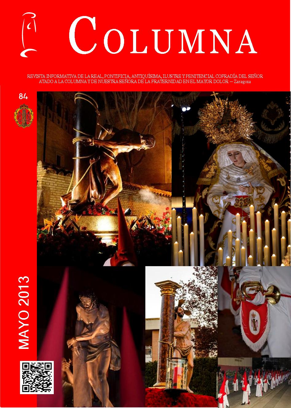 Cofradia Columna Zaragoza – Portada Revista 84 Mayo 2013