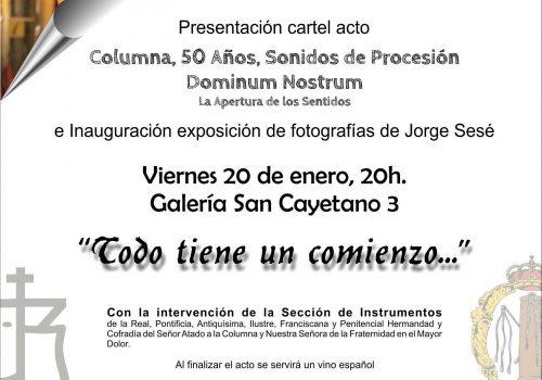 """Presentación Del Cartel Del Acto """"Columna, 50 Años. Sonidos De Procesión"""""""