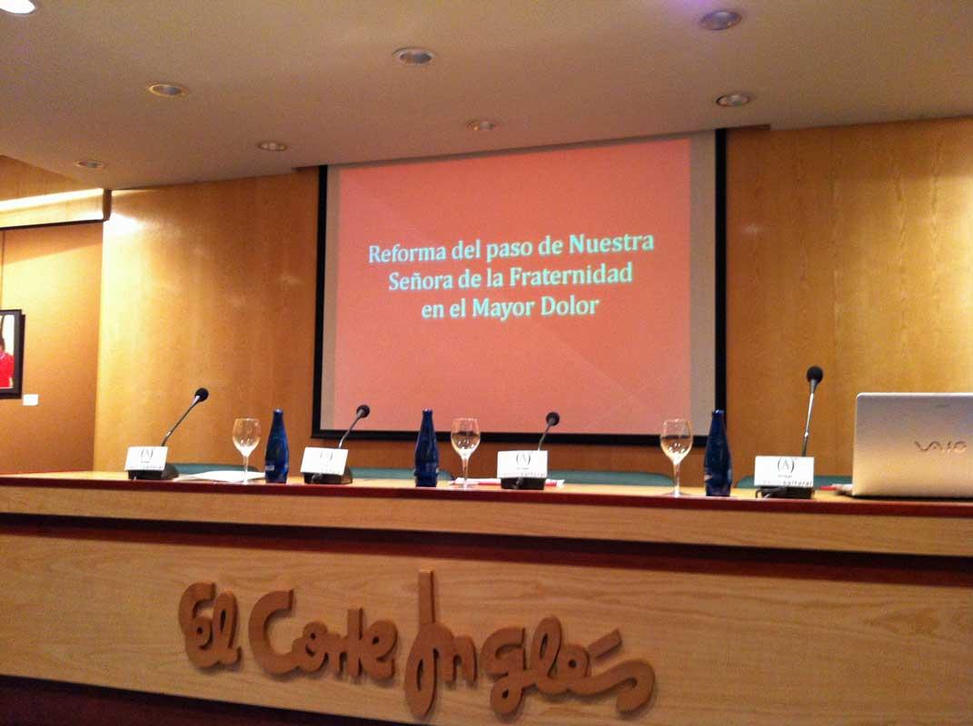 Presentación Reforma Paso De La Virgen De La Fraternidad Y De La Revista Nº 13 De La Junta Coordinadora