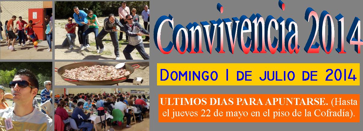 ULTIMOS DIAS PARA APUNTARSE A LA CONVIVENCIA 2014
