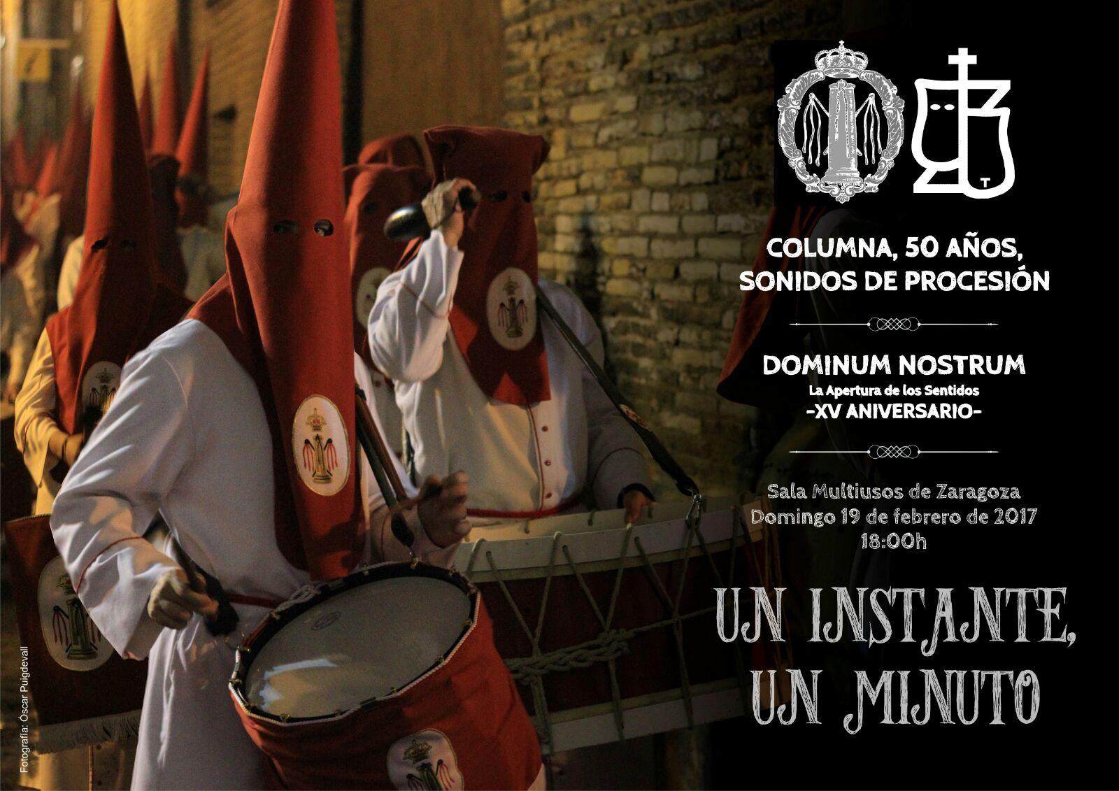Cartel Anunciador De La Gala «Columna, 50 Años. Sonidos De Procesión»